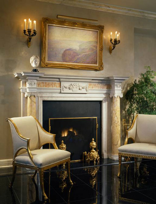 Neoclassic Antique Fireplace From Chicago Interior Designer John Robert Wiltgen