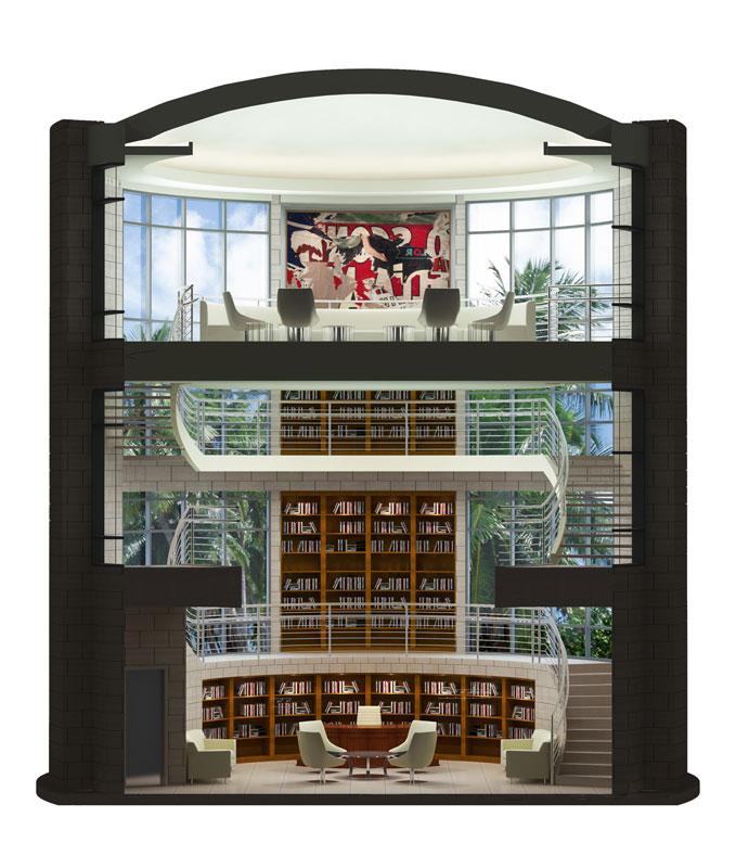 Custom Designed Library by Chicago Interior Designer JRW
