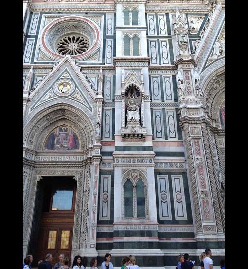 Gothic Revival Facade of the Basilica di Santa Madia del Fiore